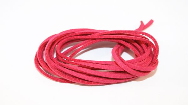 2meter Hot pink Suede cord - 2.5mm